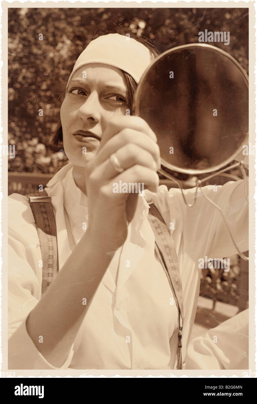 Stock Photo - Dressing 1920s style old fashion vogue model young woman