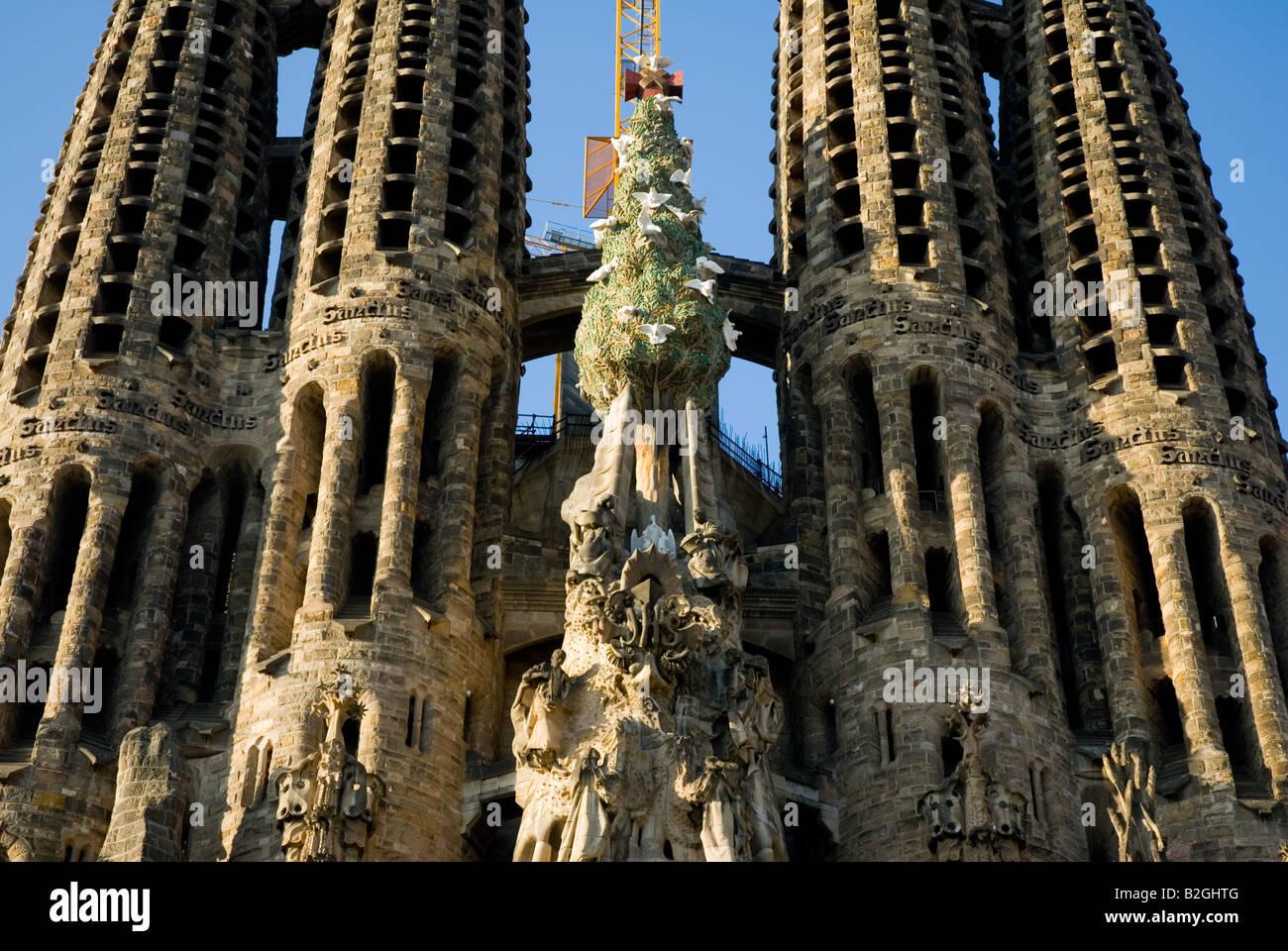 La sagrada familia details close up barcelona spain stock for La sagrada familia spain