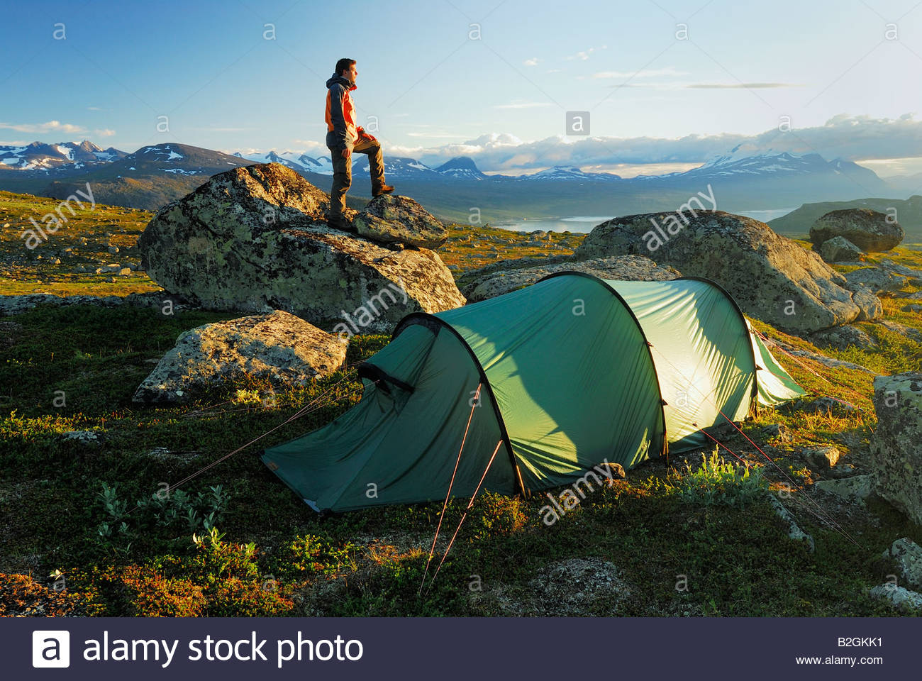 stock photo akka massif outdoor camp ground camping lapland sweden