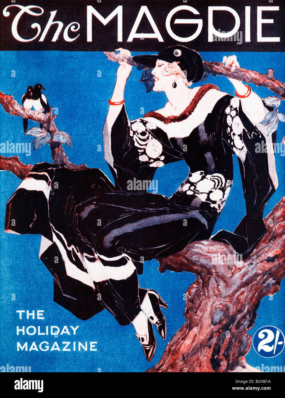 The Magpie 1923 Art Deco Magazine Cover For An English