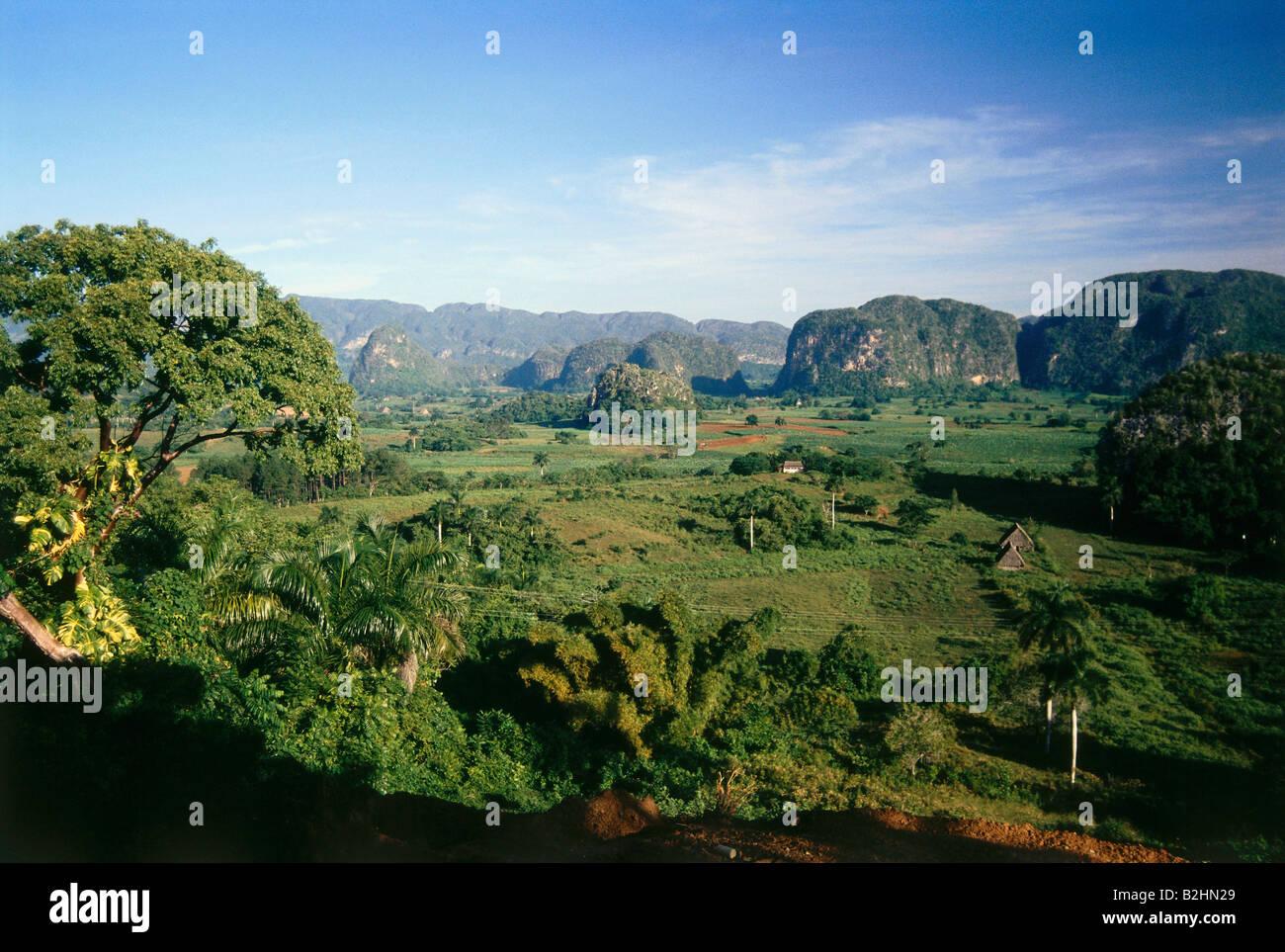 geography / travel, Cuba, Vinales, tropical landscape, Central ...