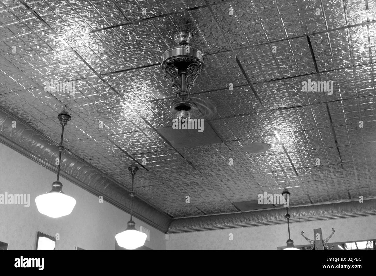 Distressed ceiling tiles