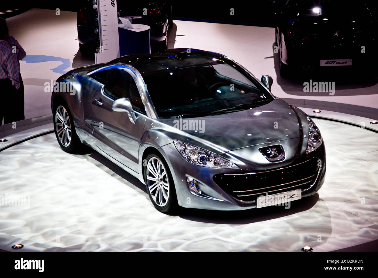 the peugeot 308 rcz concept car on display the british. Black Bedroom Furniture Sets. Home Design Ideas