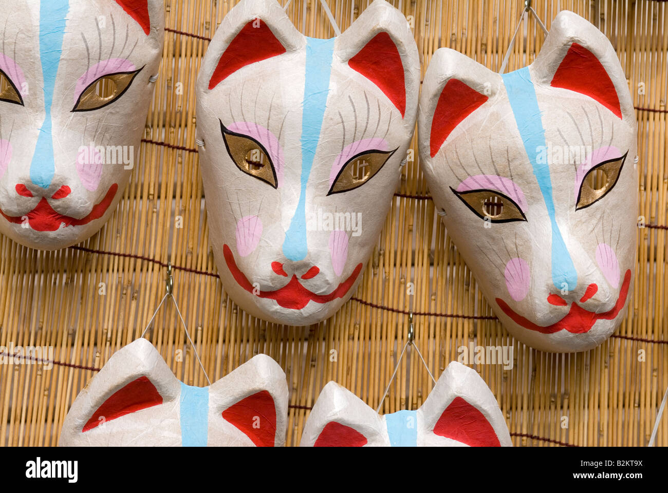 Baby inari fox for sale - Paper Mache Masks Of The Kitsune Or Fox For Sale At A Local Festival