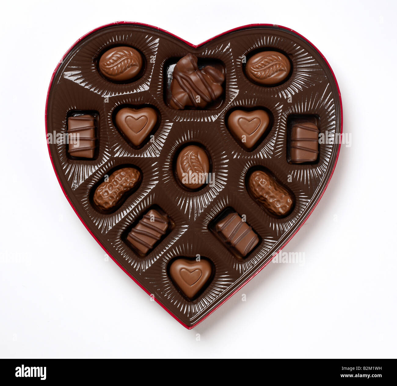 Heart shaped chocolate box Stock Photo, Royalty Free Image ...