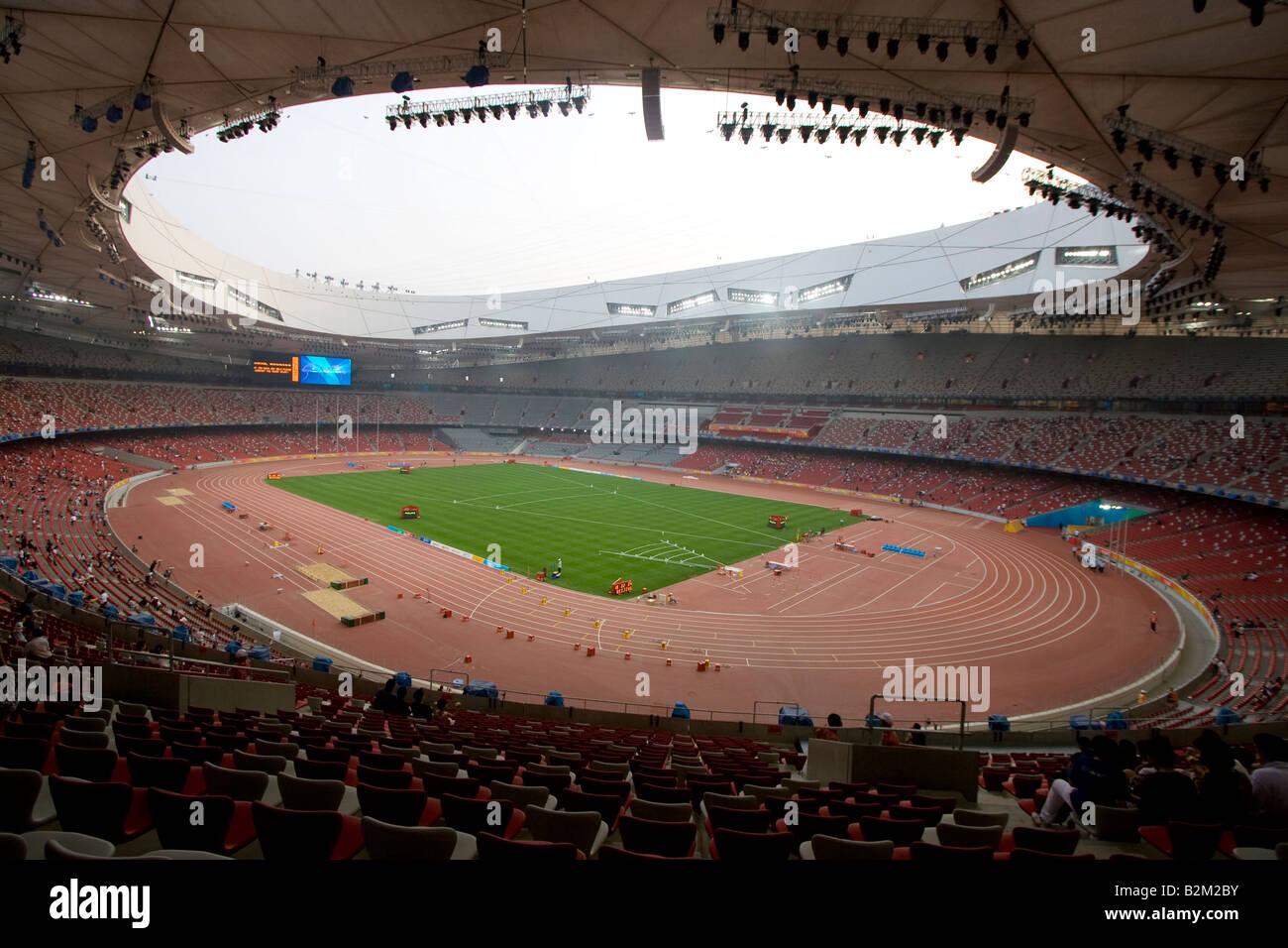 Inside the beijing national stadium also known as the bird for The bird s nest stadium