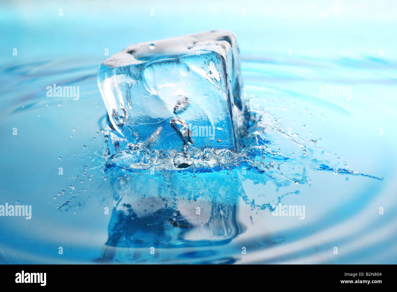 Cool refreshing ice cube dropped into freshly poured water for Refreshing pictures