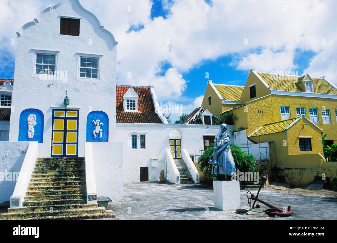 Dutch Caribbean Style Architecture In Otrabanda District Of Willemstad Curacao