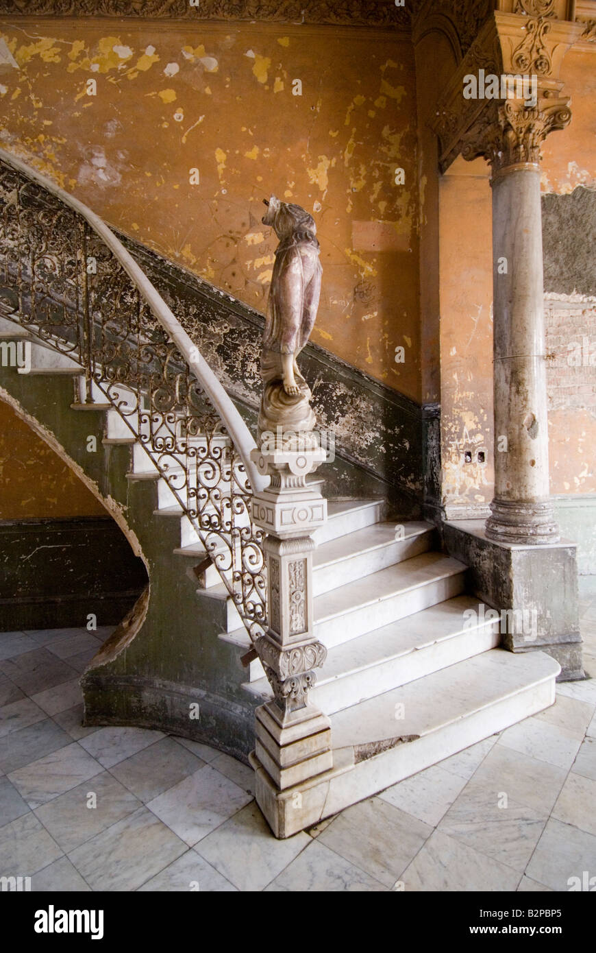 Admirable Broken Figurine On An Old Staircase Inside Run Down Colonial House Inspirational Interior Design Netriciaus