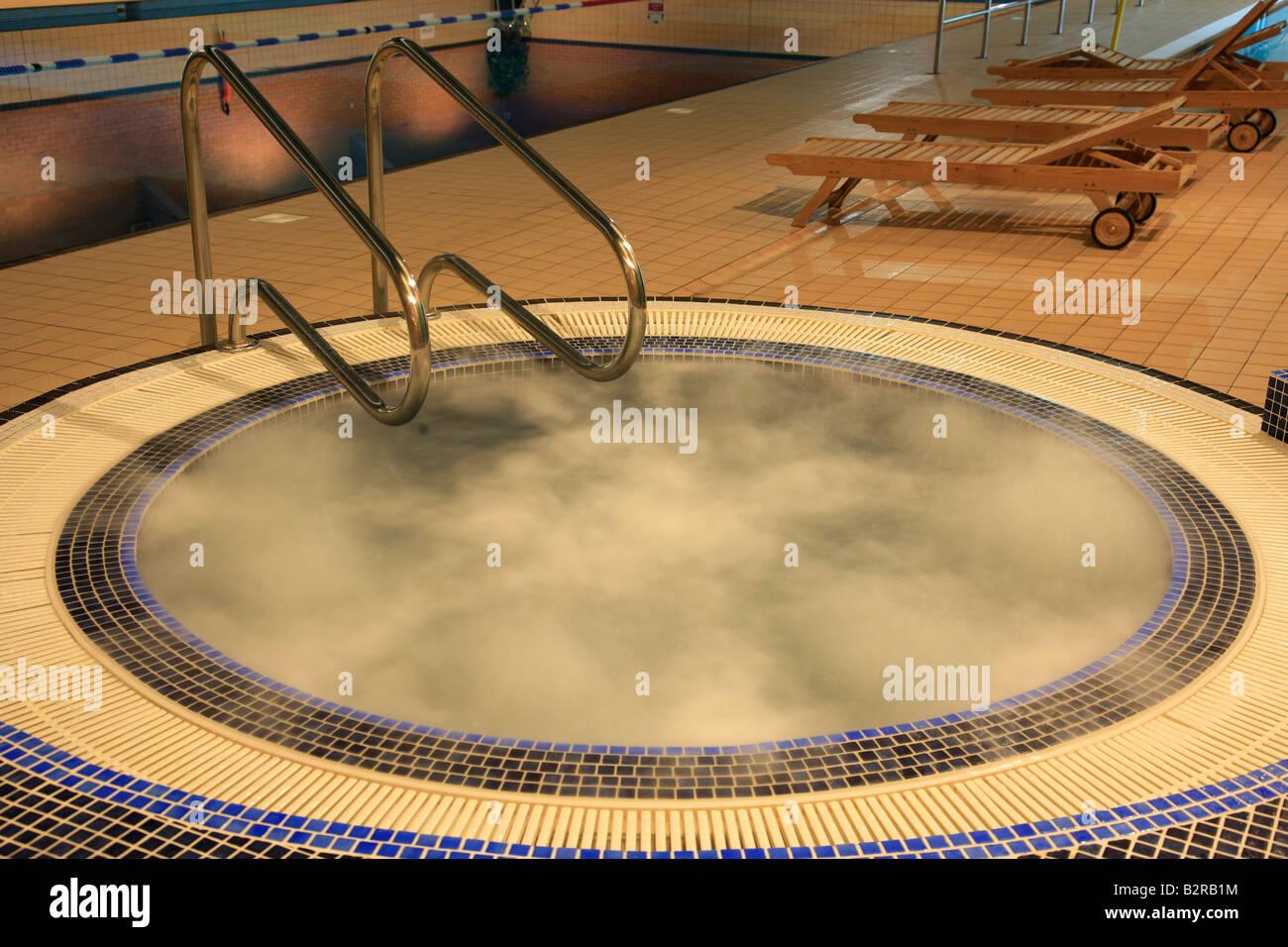 Indoor whirlpool Jacuzzi in an Esporta Spa Gym England Britian UK ...