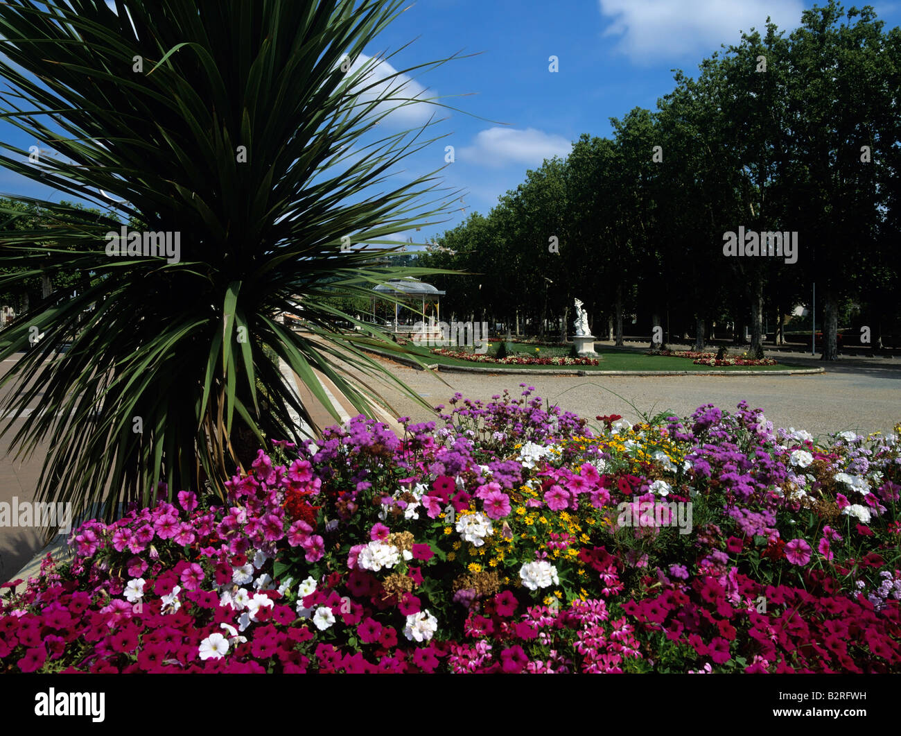 park flowers flower bed bandstand french europe european eu town city Stock P
