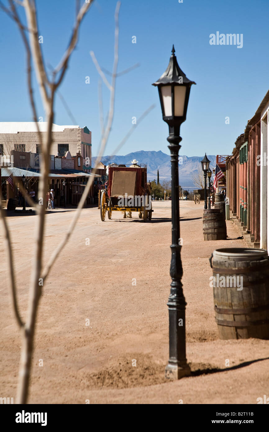 Stagecoach on allen street tombstone arizona usa stock photo stagecoach on allen street tombstone arizona usa arubaitofo Images