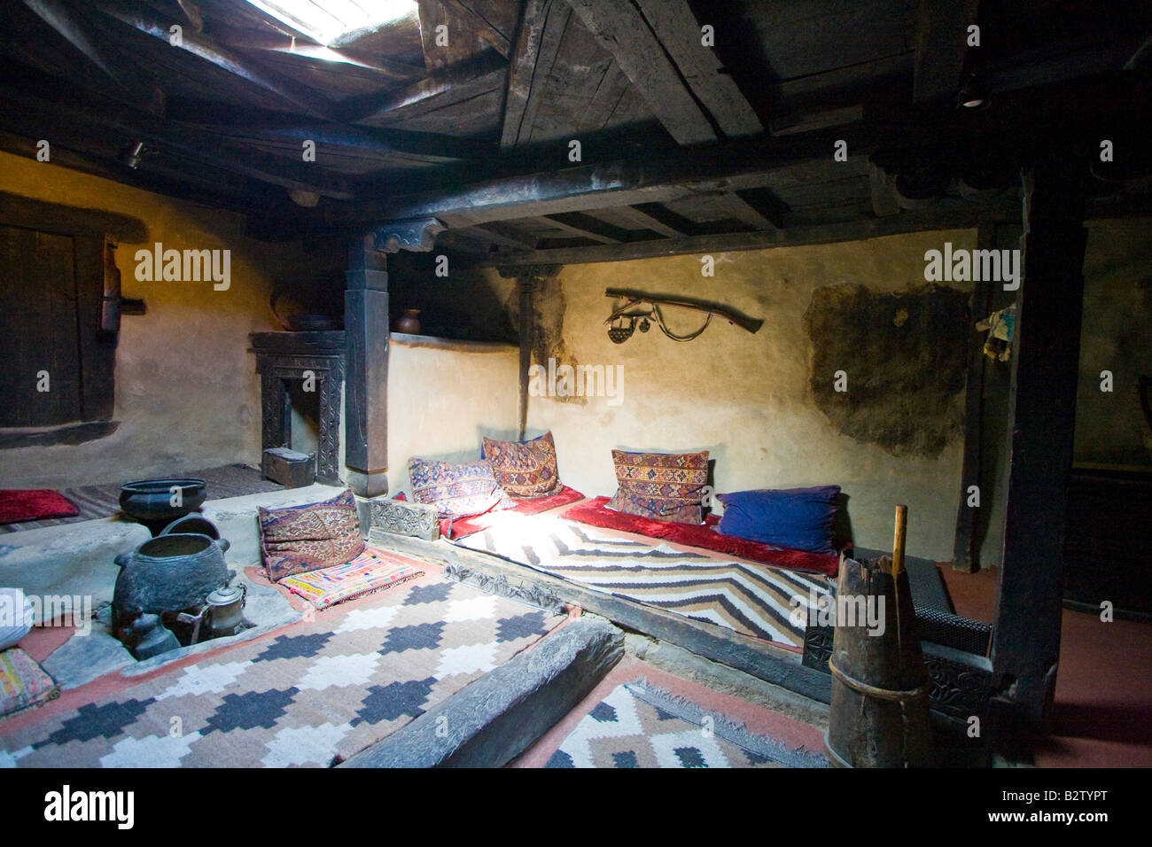 Traditional House Inside Baltit Fort In Karimabad In The