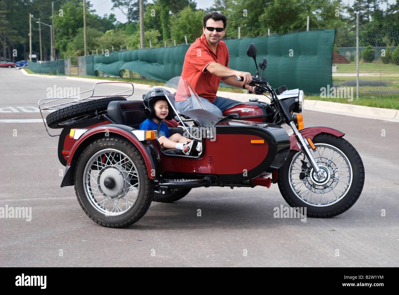 Motorcycle Sidecar Penger Stock Photos