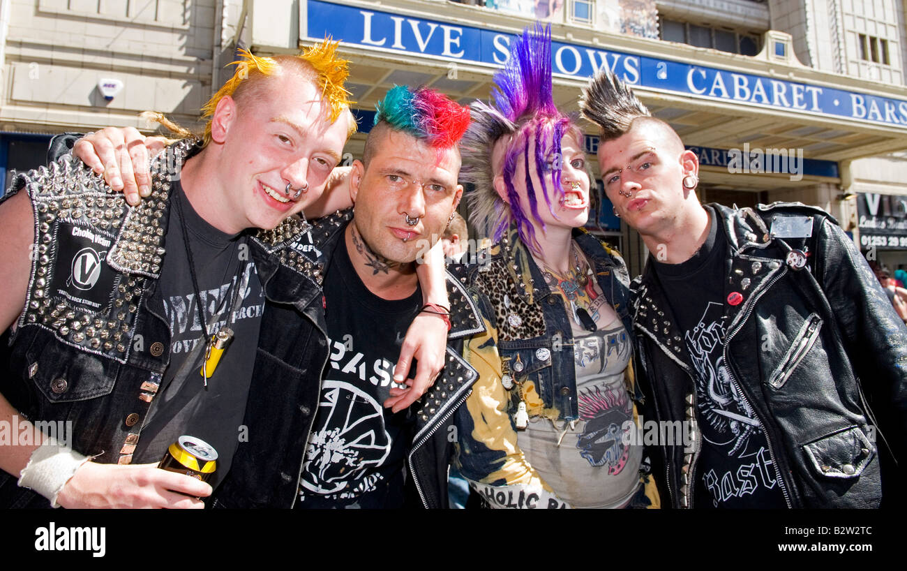 Group Of Punk Rockers At Rebellion Festival Stock Photo