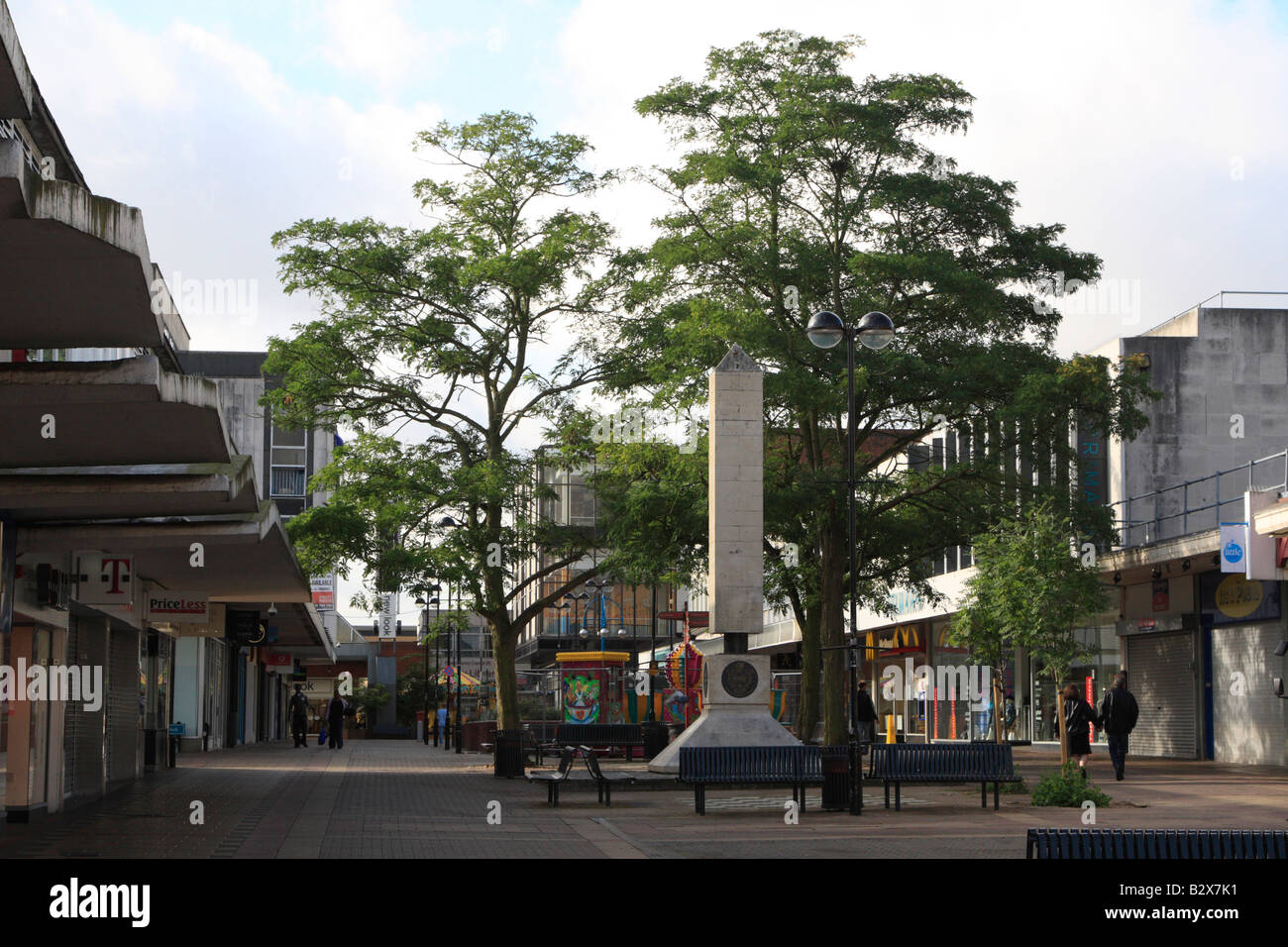Harlow Town Centre High Street Shops Harlow Essex England Uk Gb Stock Photo Royalty Free Image