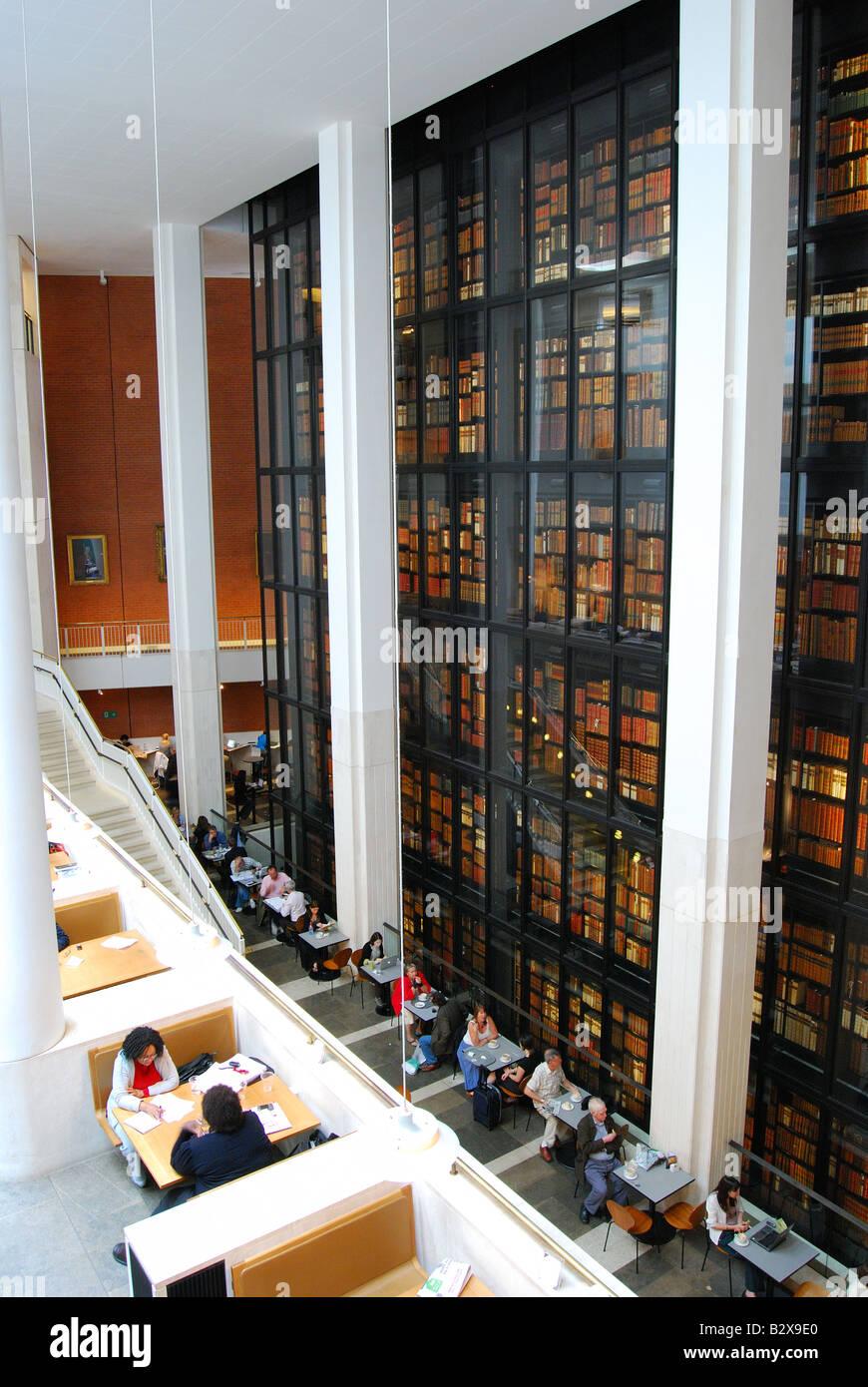 Interior View Showing Kings Library British Euston Road Camden Borough London England United Kingdom