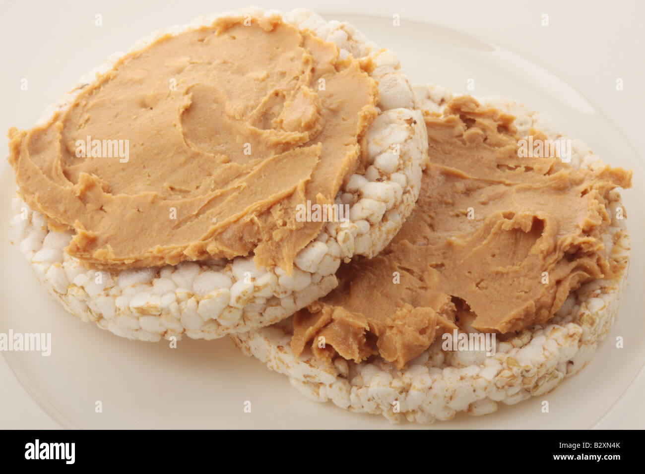Rice Cakes With Peanut Butter Stock Photo, Royalty Free ...