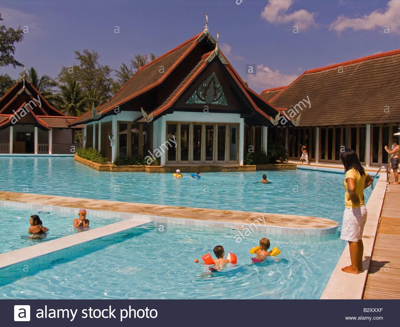 Asia Thailand Phuket Club Med Swimming Pool Stock Photo Royalty Free Image 19031559 Alamy