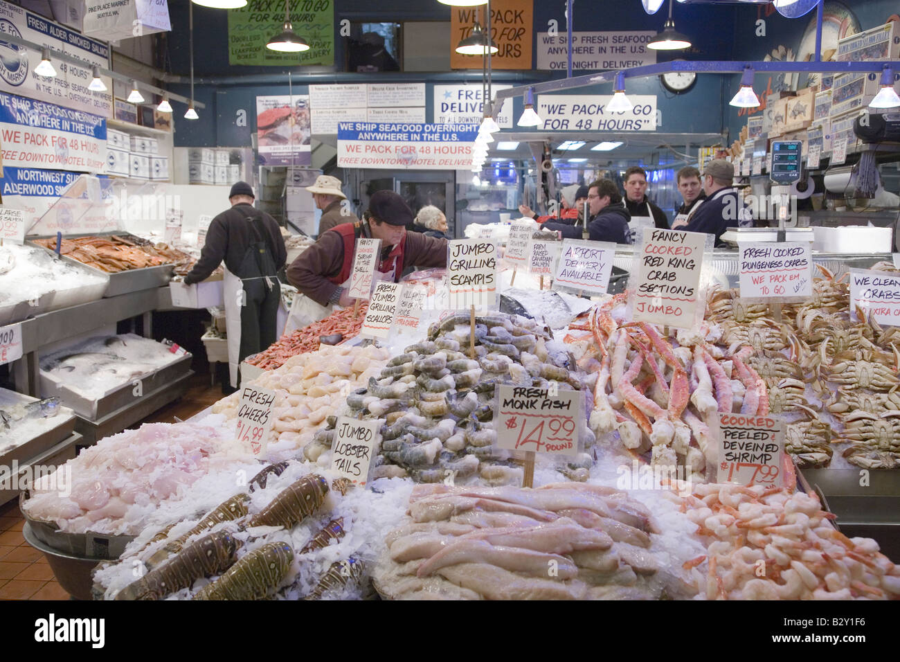 Pike place fish market in downtown seattle washington for Fish market in seattle