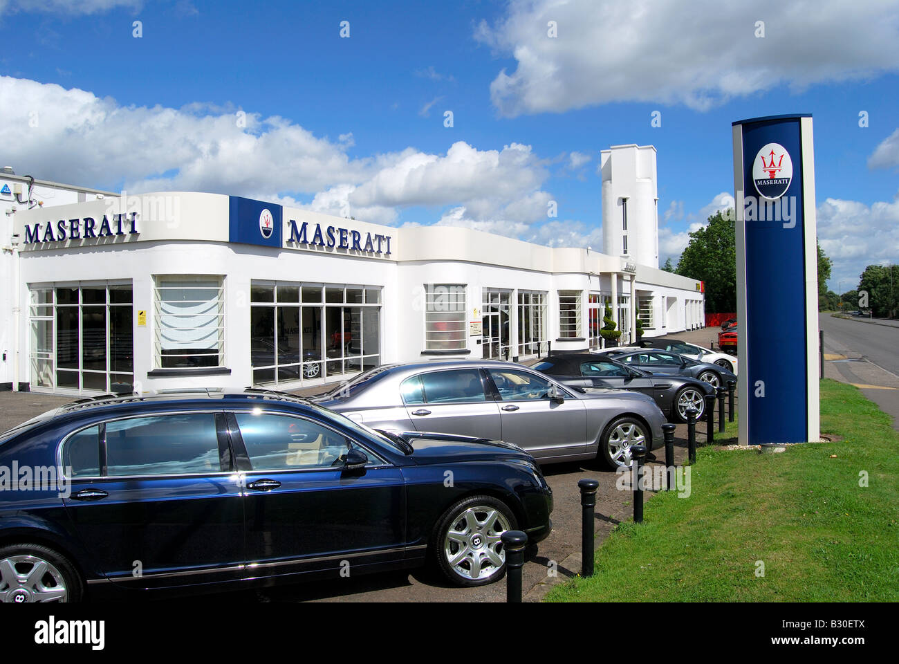 Maserati Car Dealership Egham Surrey England United Kingdom - Maserati car dealership