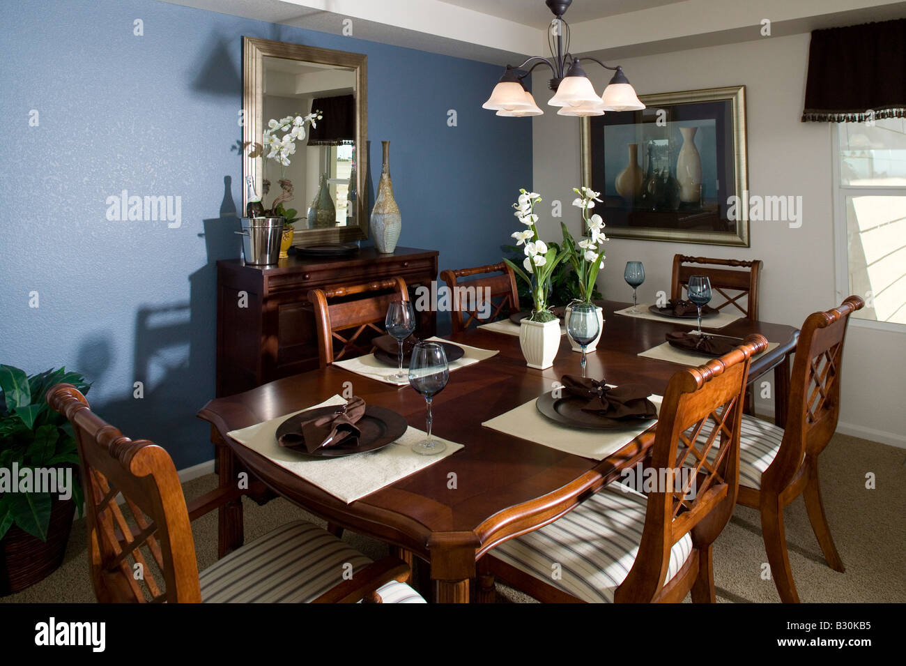 Middle Class Single Family Home Interior Dining Room Table And Chairs  Nobody, Denver, Colorado