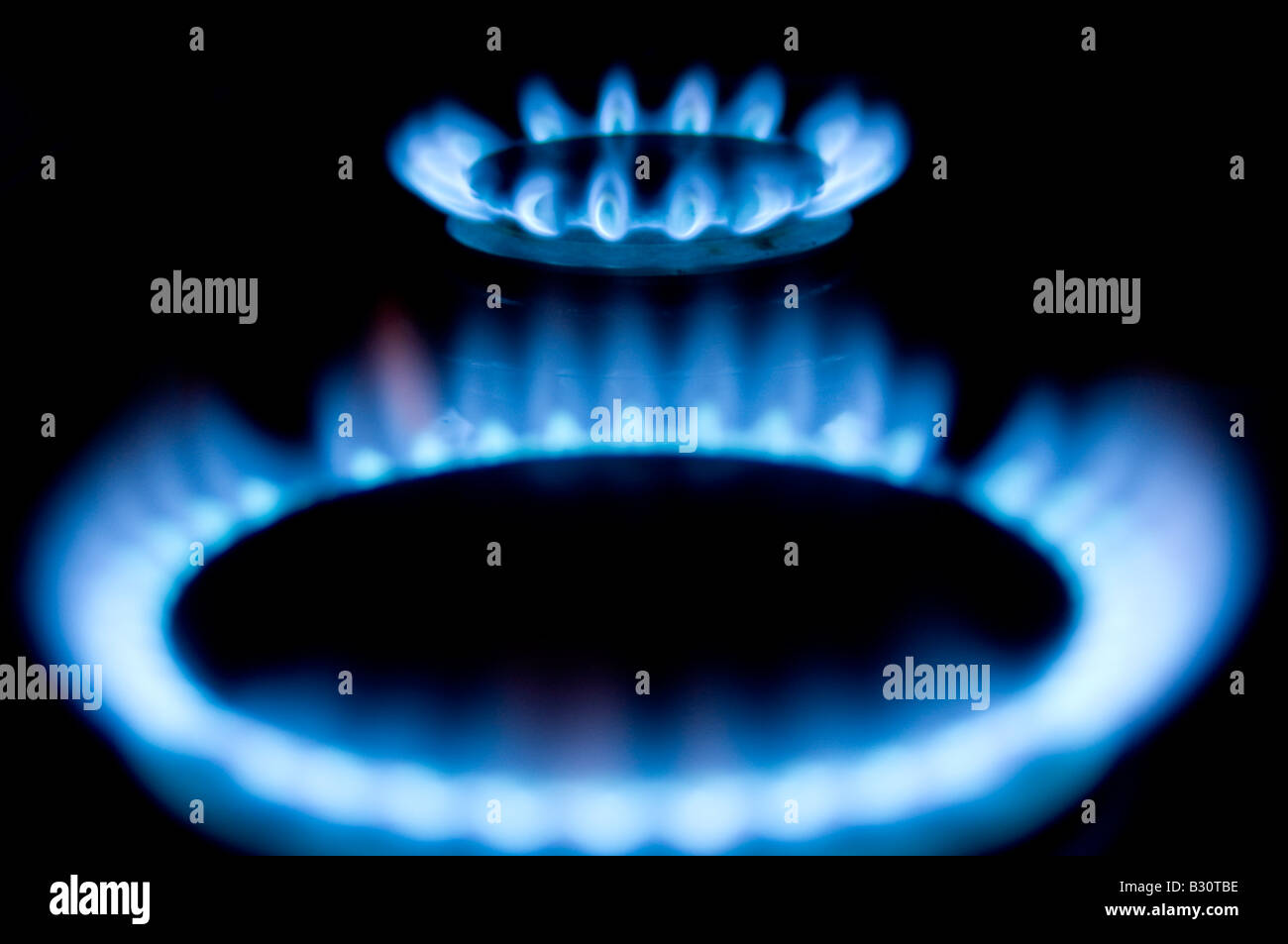 Gas Flame Fire Heat Heating Bill Rising Cook Cooking Cooker Ring Blue Stock Photo Royalty Free