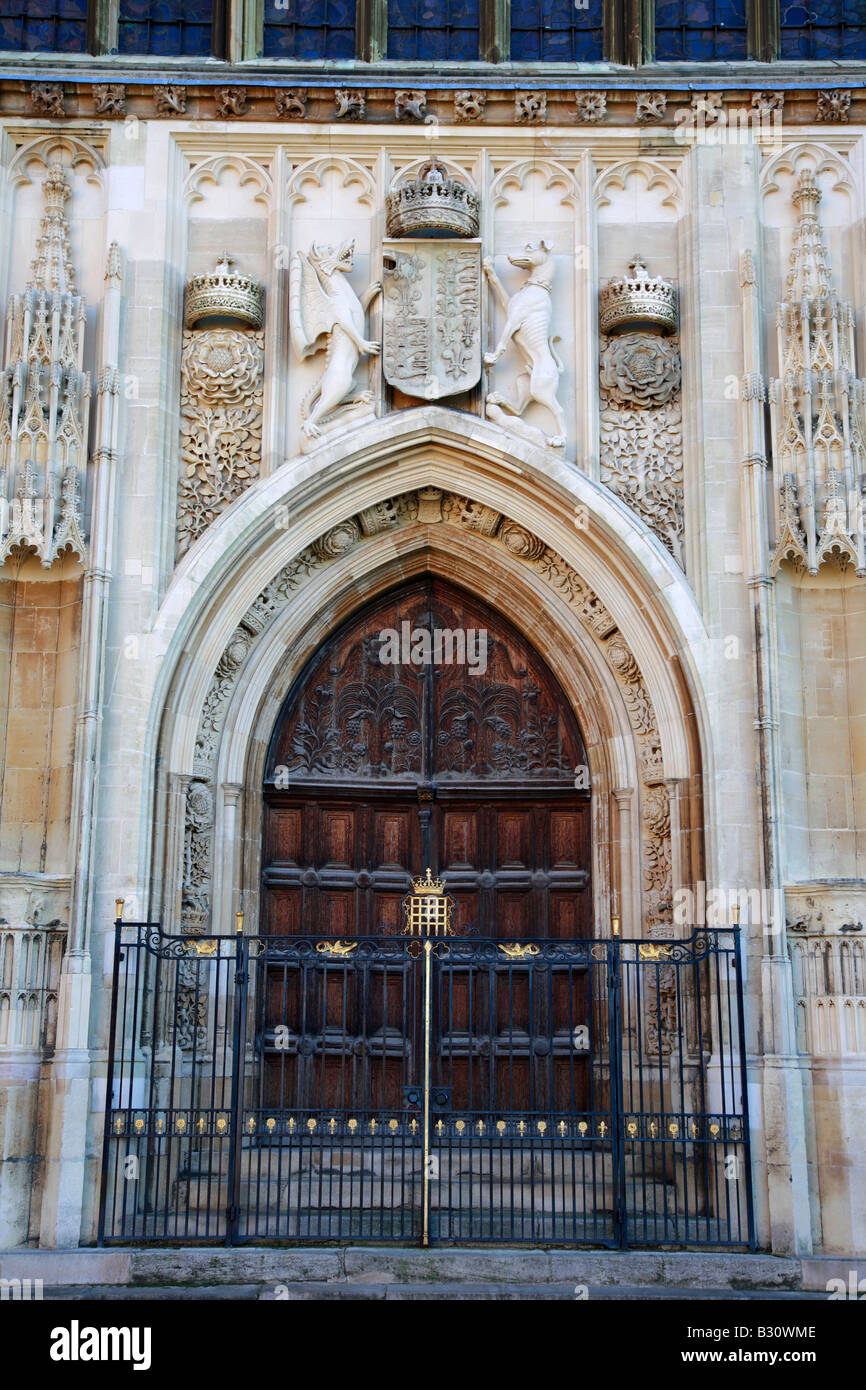 Entrance Door Kings College Chapel Kings Parade University Cambridge City Cambridgeshire England Britain UK : door kings - Pezcame.Com