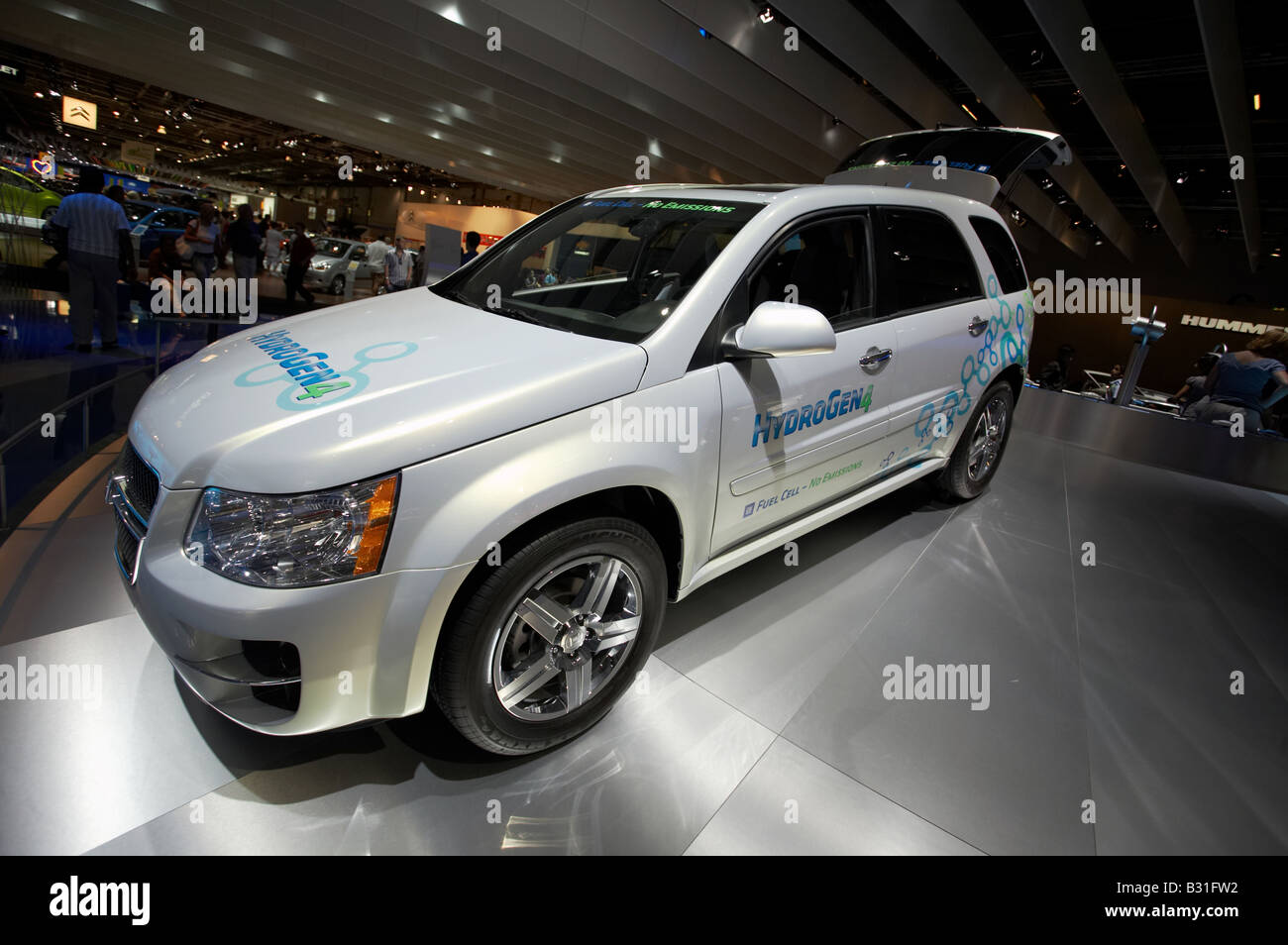 gm general motors chevy equinox fuel cell suv new hybrid off road car stock photo royalty free. Black Bedroom Furniture Sets. Home Design Ideas