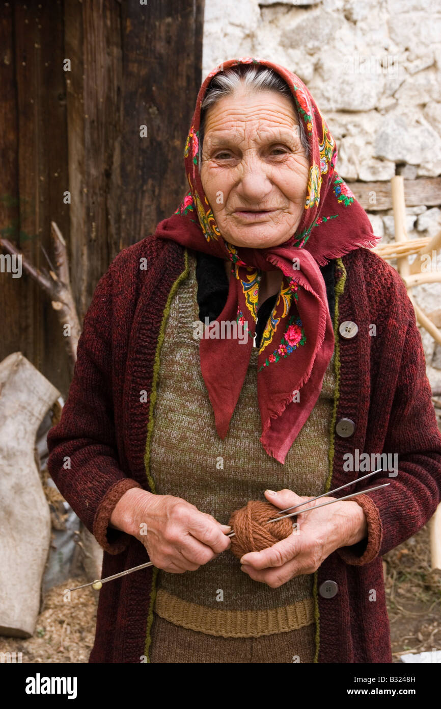 Old Lady Knitting Images : Old woman knitting balkans bulgaria delchevo village