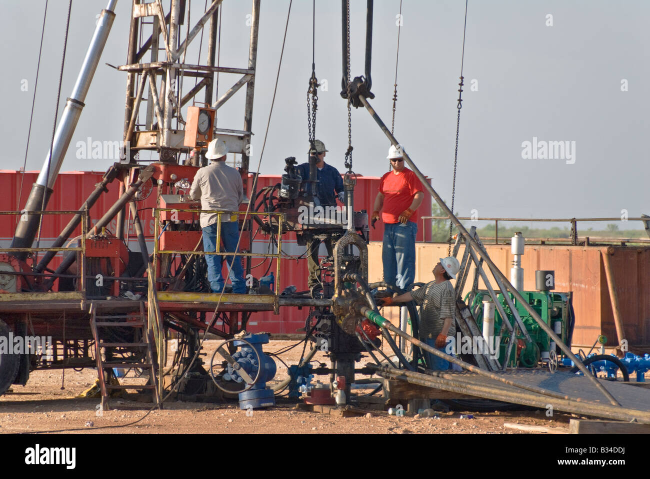 Texas Permian Basin modern oil drilling rig south of ...