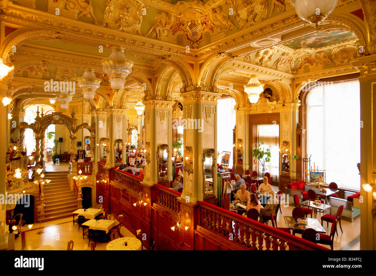 the new york cafe in budapest hungary stock photo royalty free image 19154258 alamy. Black Bedroom Furniture Sets. Home Design Ideas