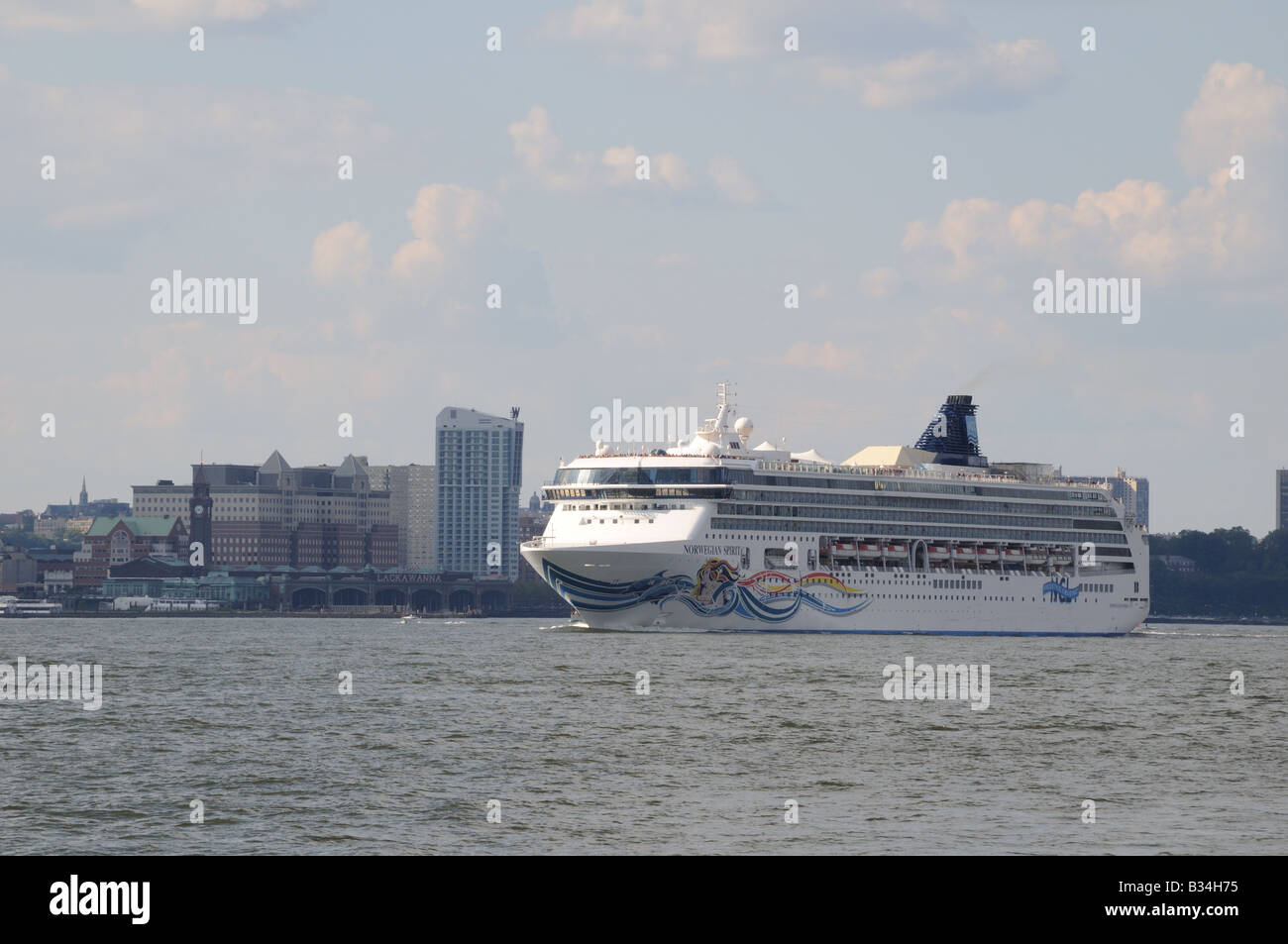 The Cruise Ship Norwegian Spirit Sails Down The Hudson River - Cruise ships from new jersey