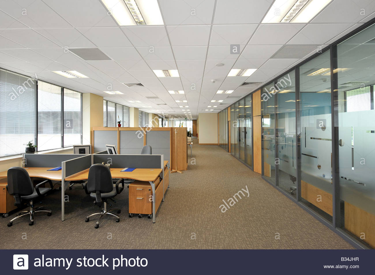 Modern open plan office space stock photo royalty free for Open space office