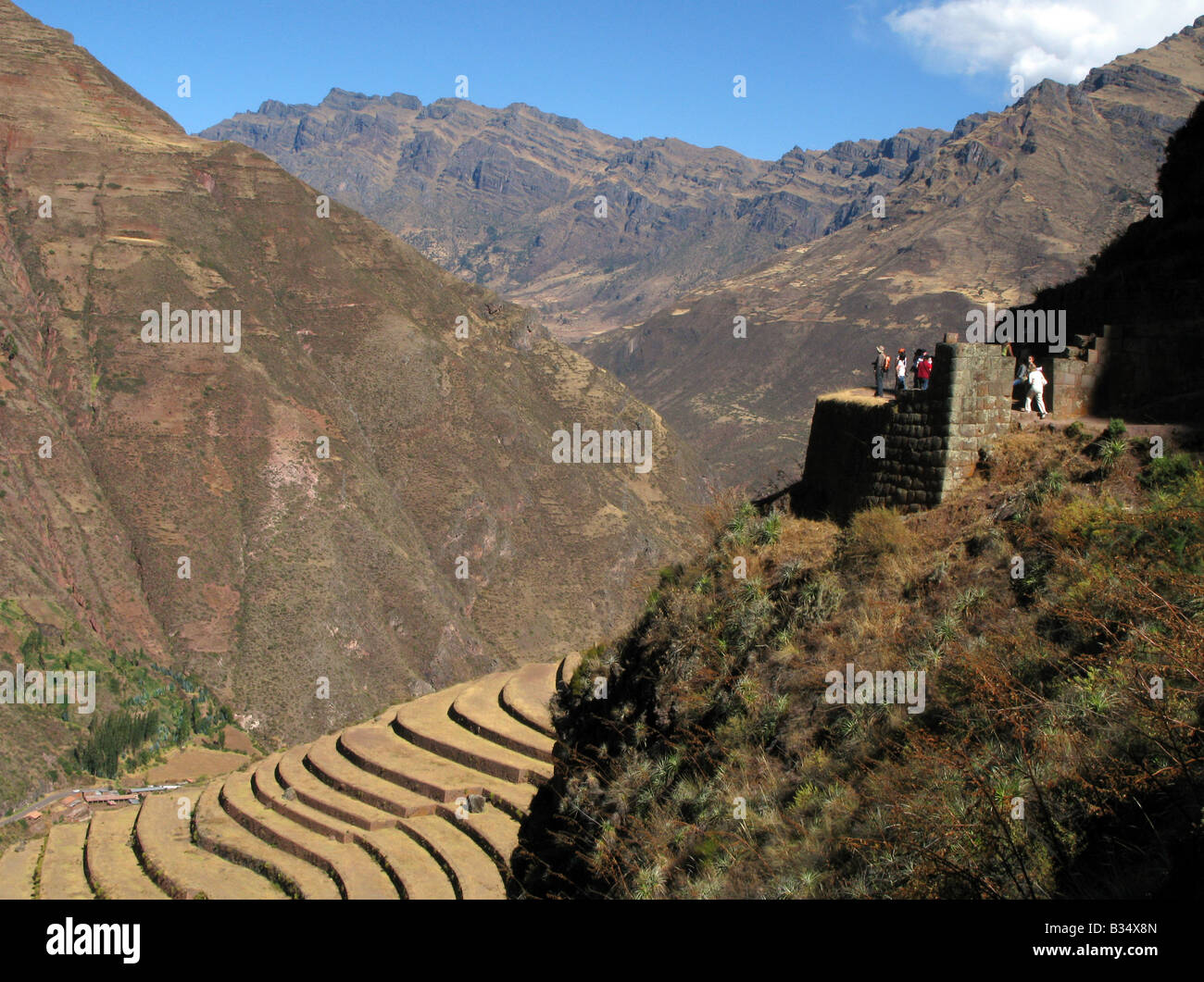 Mountain living near cusco peru royalty free stock photo - Inca Terraces At Pisac In The Sacred Valley Nr Cusco Peru South America