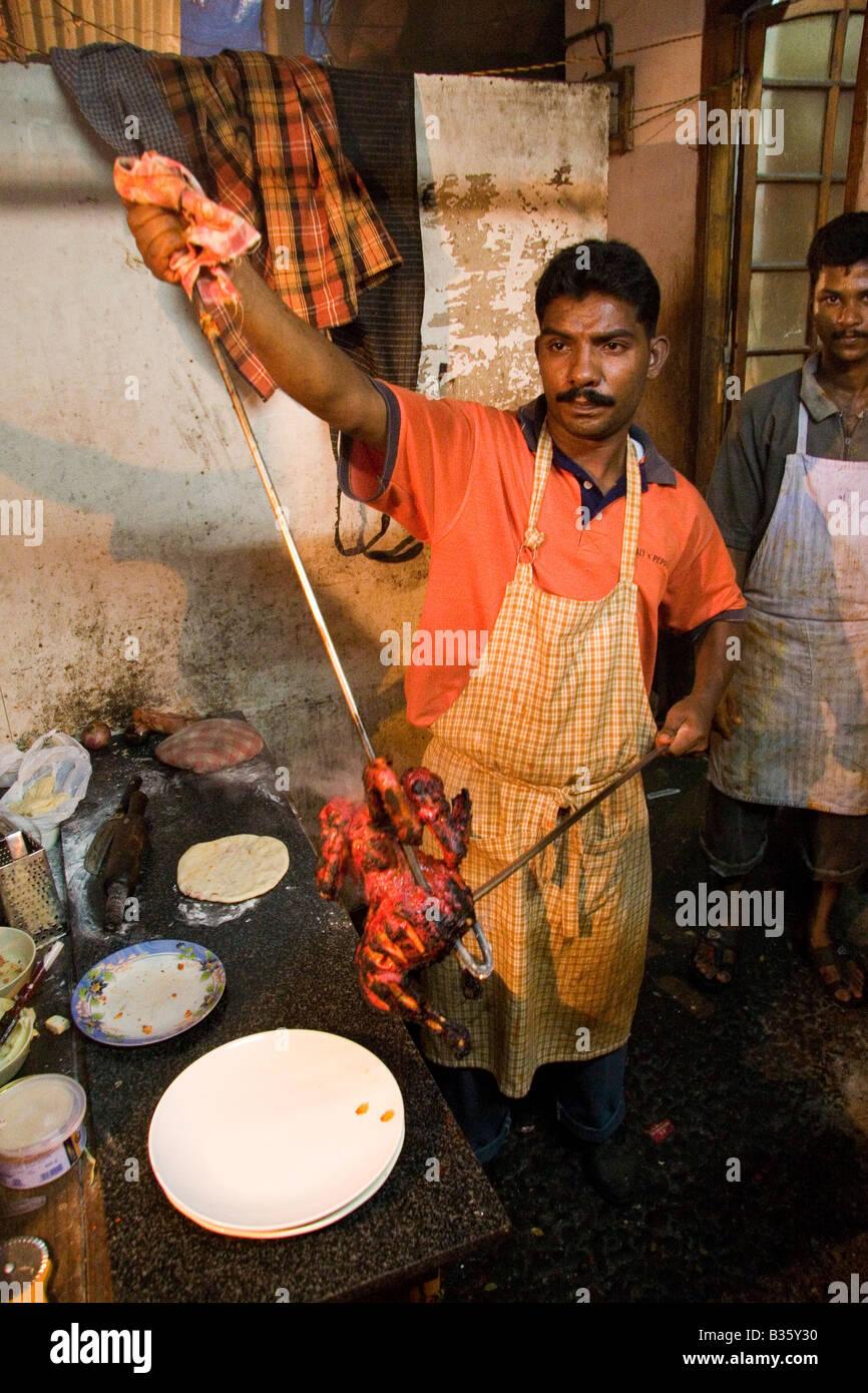 Tandoori kitchen - A Tandoor Kitchen In Kochi India The Chef Has Been Preparing Tandoori Chicken