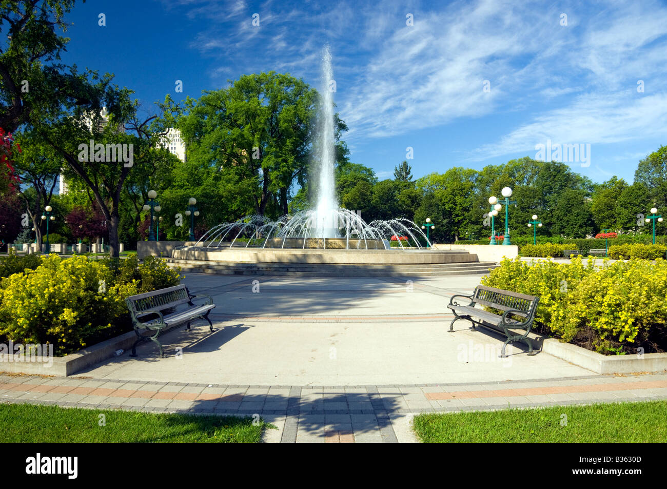 Water fountains canada - Stock Photo The Decorative Water Fountains At The Manitoba Legislative Buildings In Winnipeg Manitoba Canada