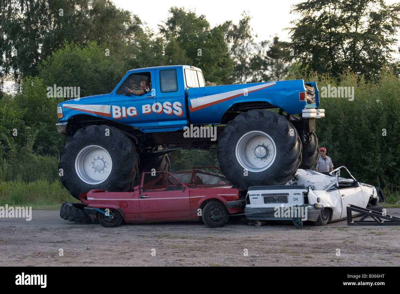 Big Boss Monster Truck Crushing Cars Stock Photo Royalty Free