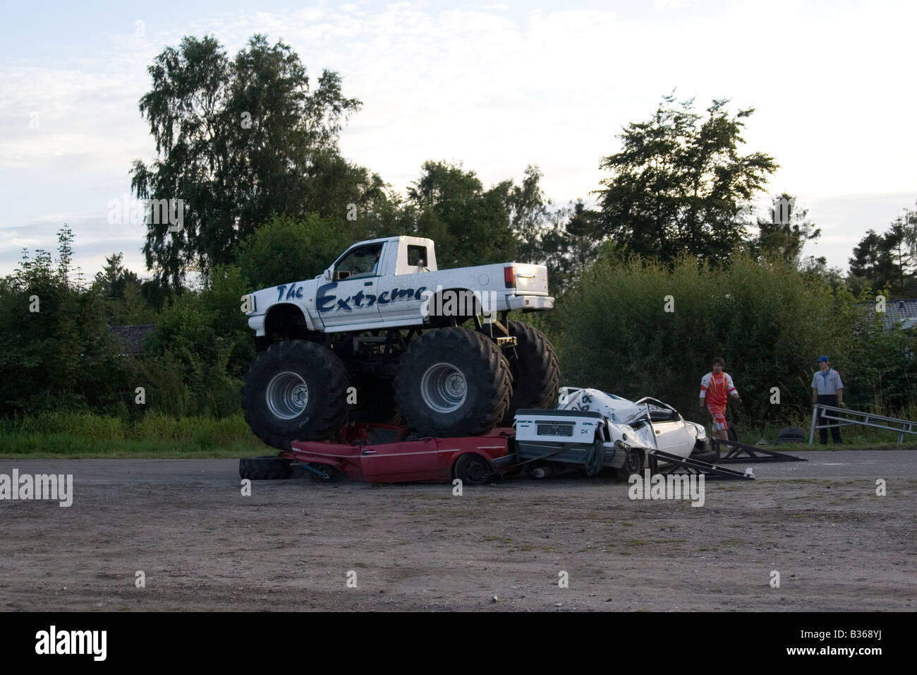 Extreme Monster Truck Crushing Cars Stock Photo Royalty Free