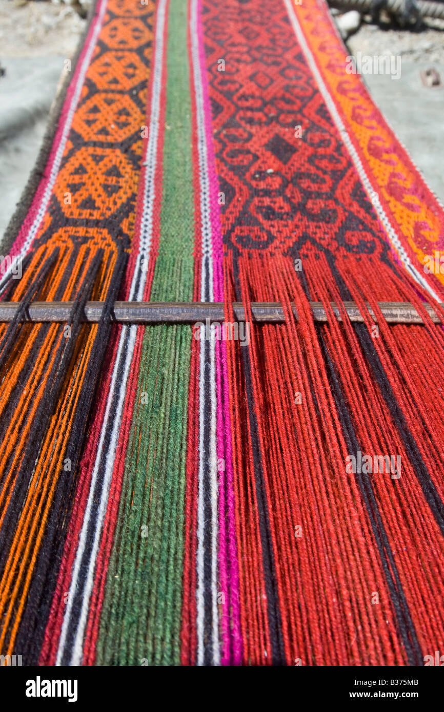 Attractive Stock Photo   Weaving Handmade Rugs For Their Yurt In Jalang Village In The  Pamirs In Tajikistan