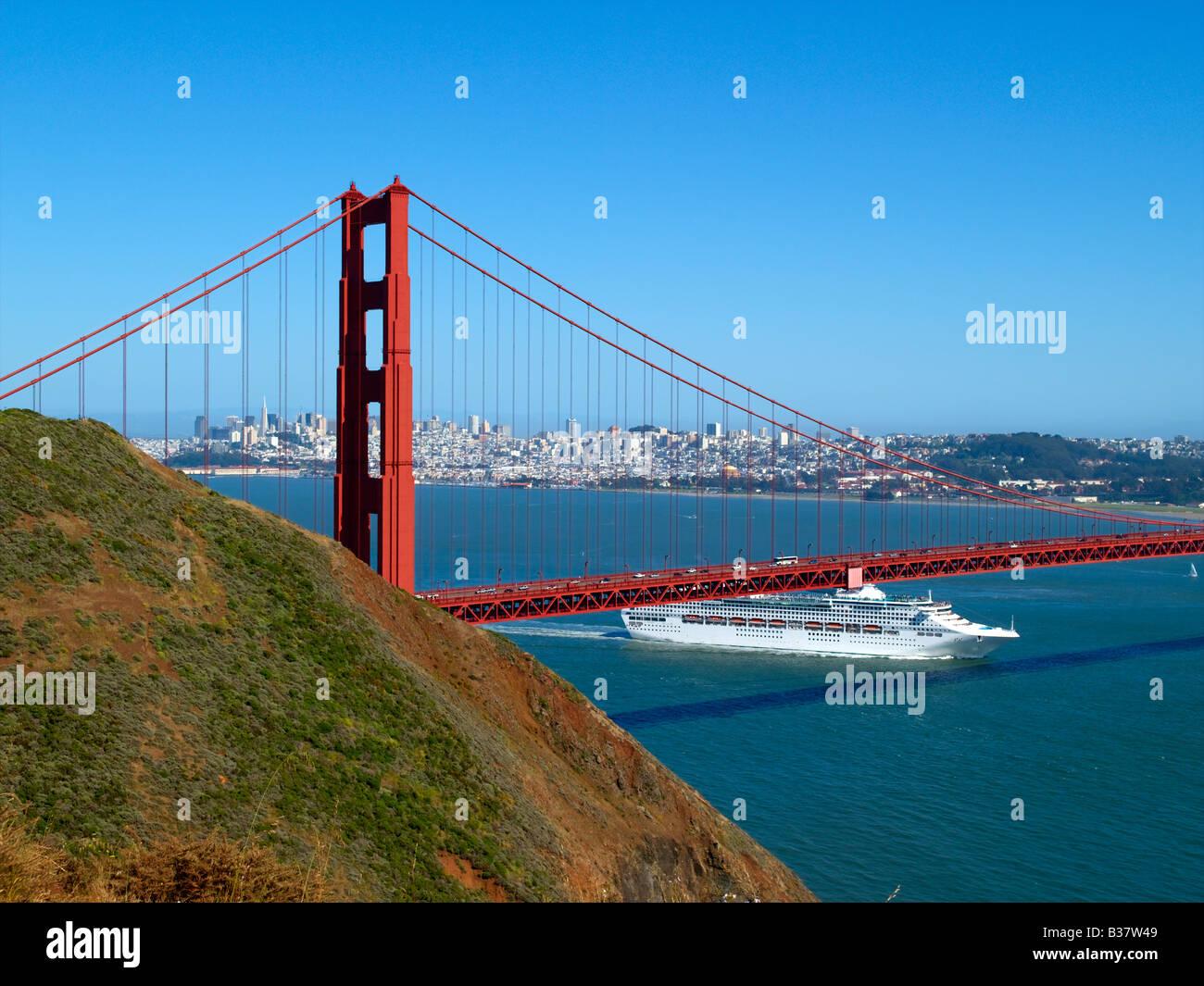 Golden Gate Bridge Cruise Ship Stock Photos Golden Gate Bridge - Cruise ships from san francisco