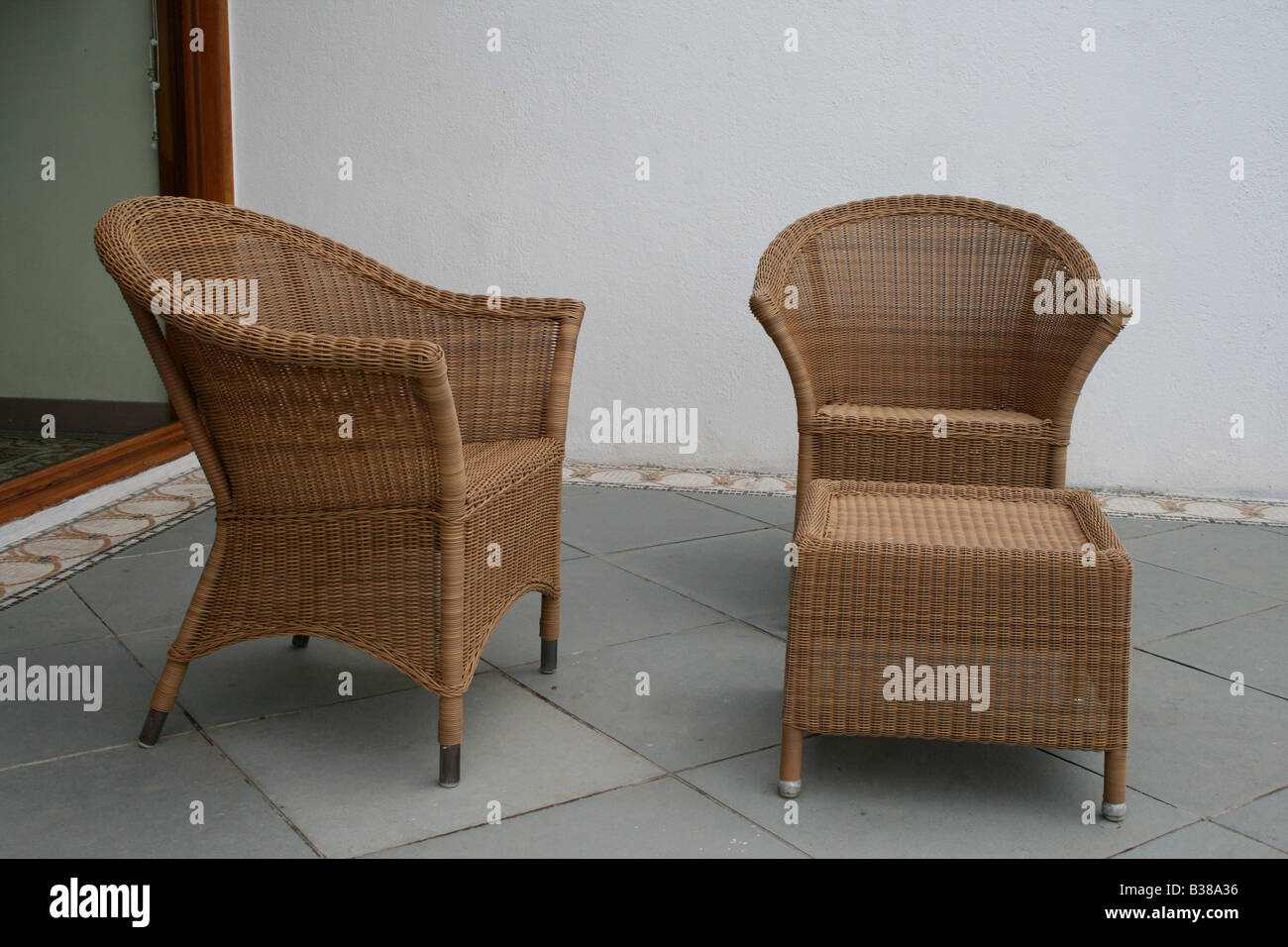 Hand Made Traditional Indian Keralite Chair And Table Furniture Made Of  Bamboo And Straw Designed By Craftsmen