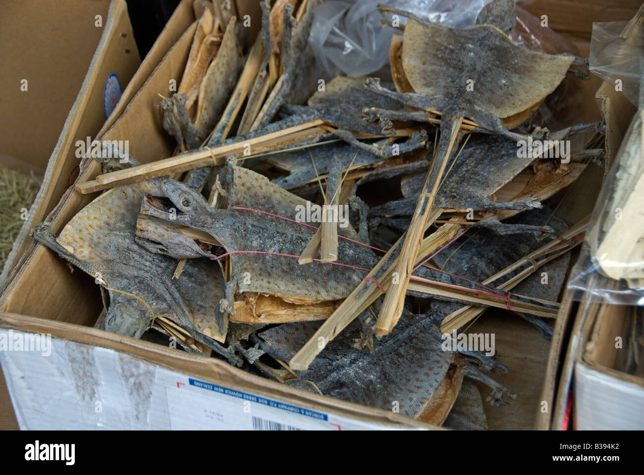 Chinese herbal products - Dried Lizards In Chinese Herbal Medicine Shop Hong Kong China Stock Image