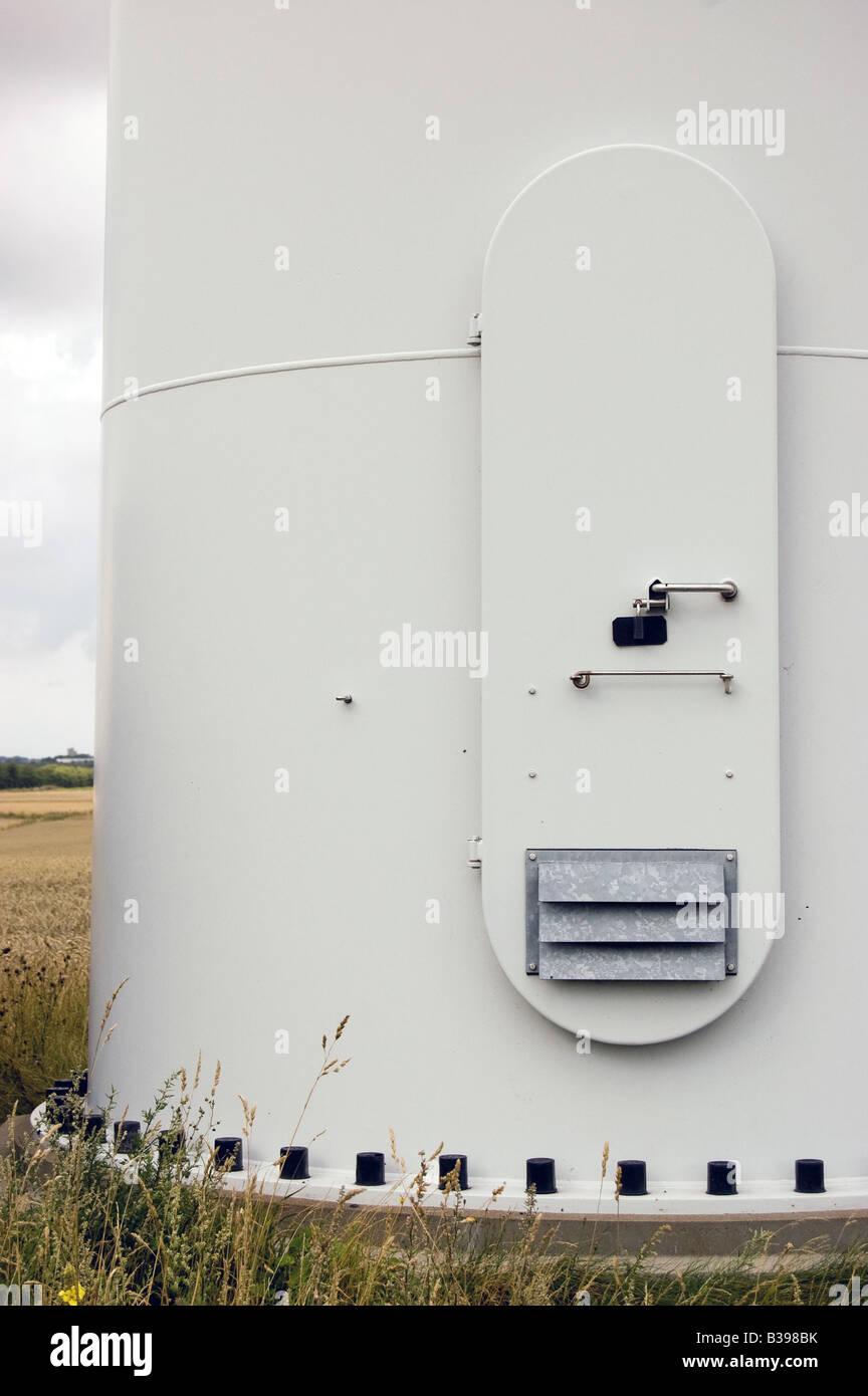 Maintenance Door to a wind turbine & Maintenance Door to a wind turbine Stock Photo: 19258503 - Alamy