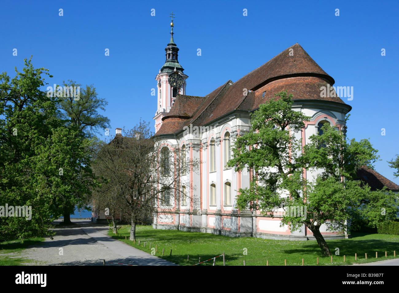 deutschland baden wuerttemberg wallfahrtskirche birnau am bodensee stock photo royalty free. Black Bedroom Furniture Sets. Home Design Ideas