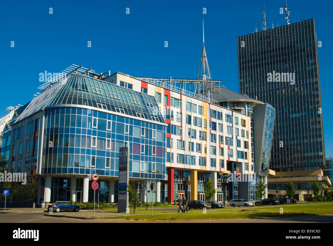 Modern Architecture By The River In Riga Latvia Europe