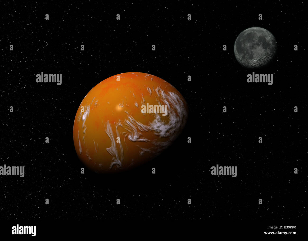 starry sky with planets - photo #2
