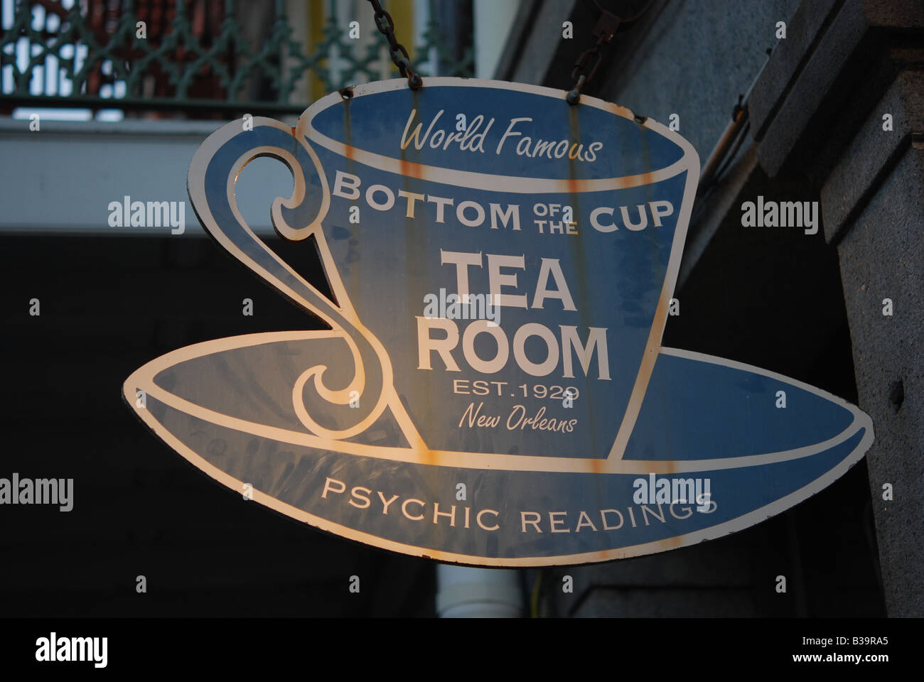 Bottom of the cup tea room sign in the french quarter of for Tea room design quarter