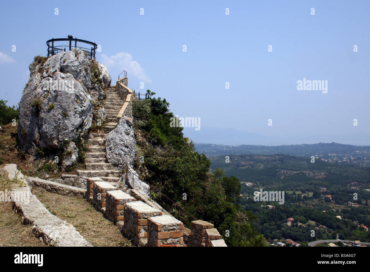 THE KAISERS THRONE AT THE VILLAGE OF PELEKAS ON THE GREEK ...