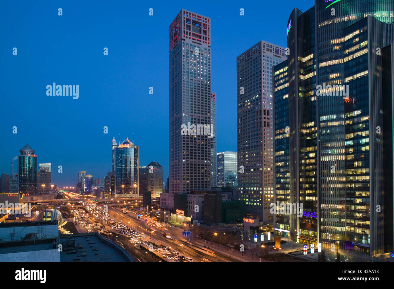 Chaoyang China  city pictures gallery : Stock Photo China, Beijing, Chaoyang District, Jianguomenwai Dajie ...